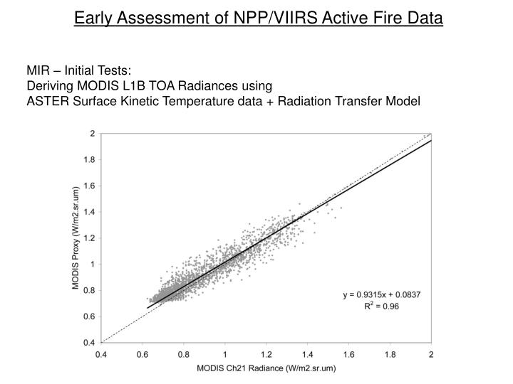 Early Assessment of NPP/VIIRS Active Fire Data