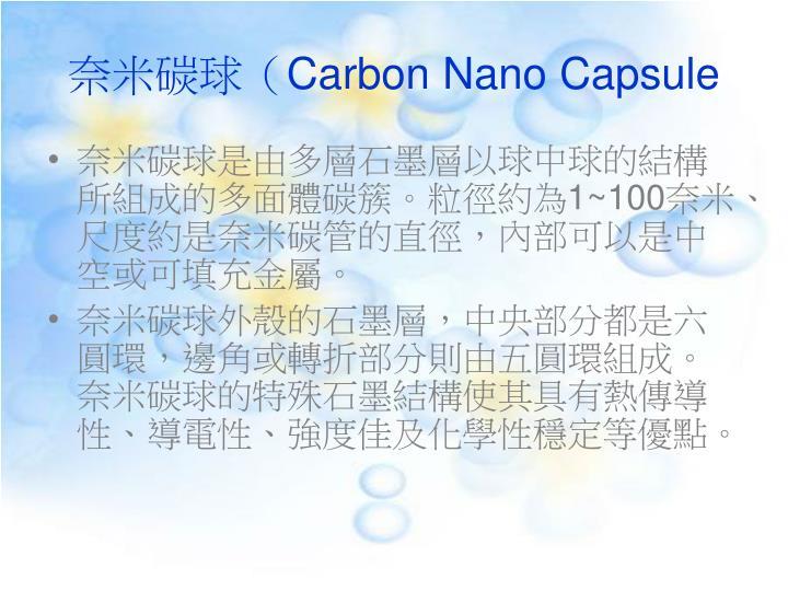 奈米碳球(