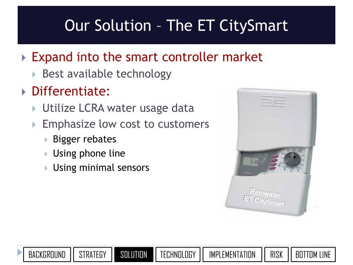 Our Solution – The ET CitySmart