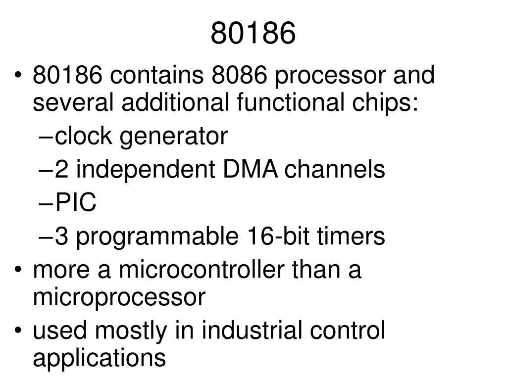 Ppt 80186 Powerpoint Presentation Id4707135 Pentium 2 Block Diagram N
