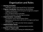 organization and roles