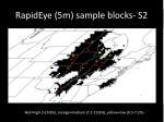 rapideye 5m sample blocks s2