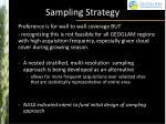 sampling strategy