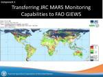 transferring jrc mars monitoring capabilities to fao giews