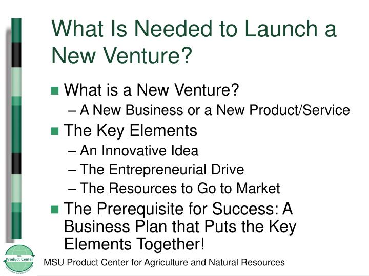What Is Needed to Launch a New Venture?
