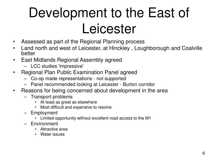 Development to the East of Leicester