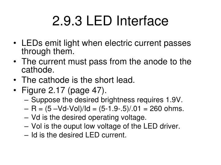 2.9.3 LED Interface