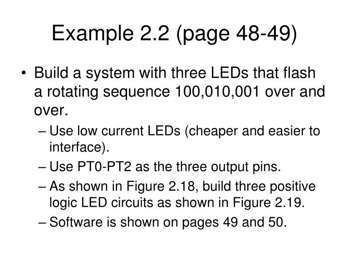 Example 2.2 (page 48-49)