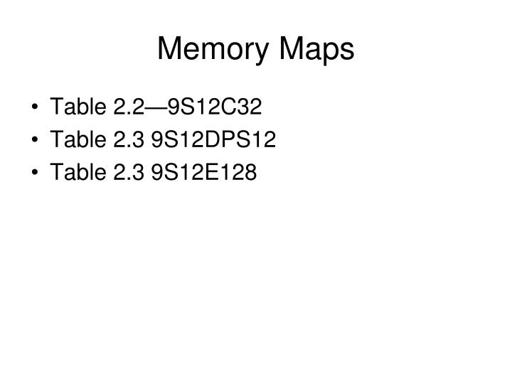 Memory Maps