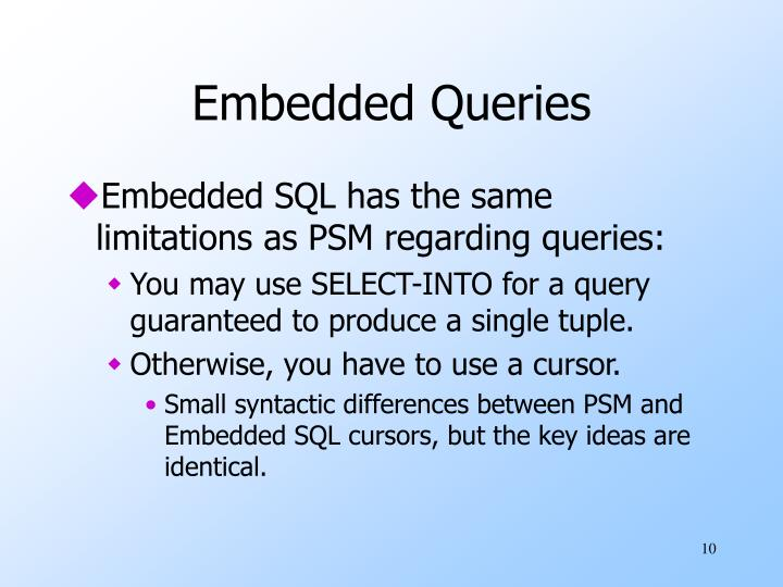 Embedded Queries