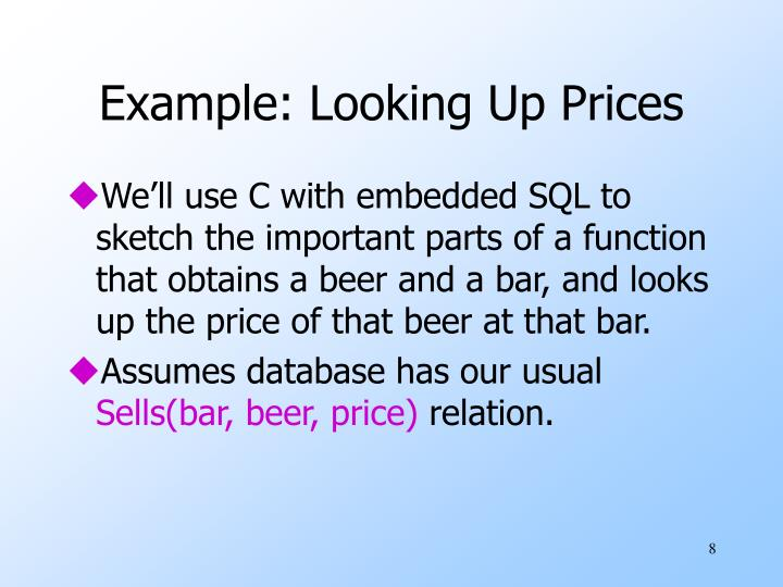 Example: Looking Up Prices