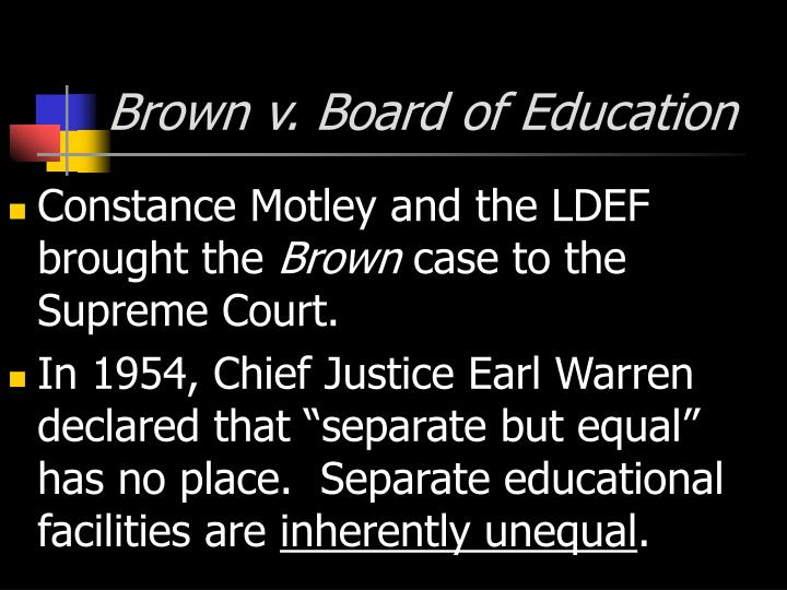 Brown v board of education1