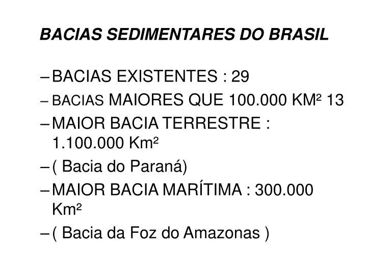 Bacias sedimentares do brasil