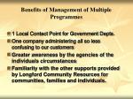 benefits of management of multiple programmes1