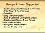 groups issues supported