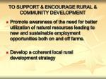 to support encourage rural community development1