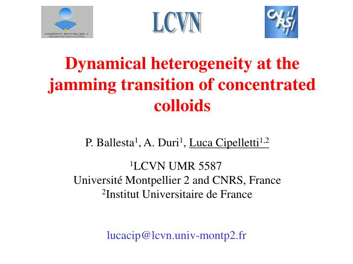 Dynamical heterogeneity at the jamming transition of concentrated colloids