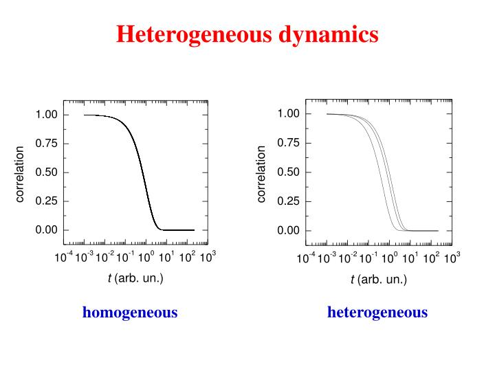Heterogeneous dynamics1
