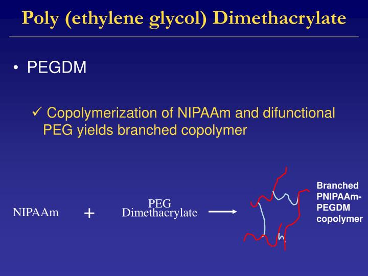 Poly (ethylene glycol) Dimethacrylate