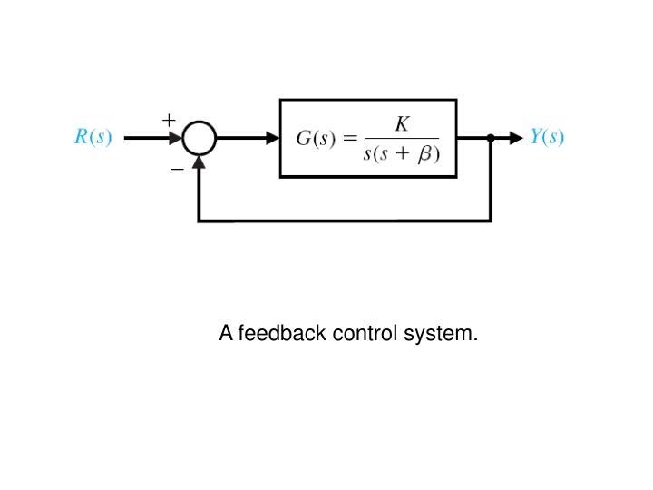 A feedback control system.