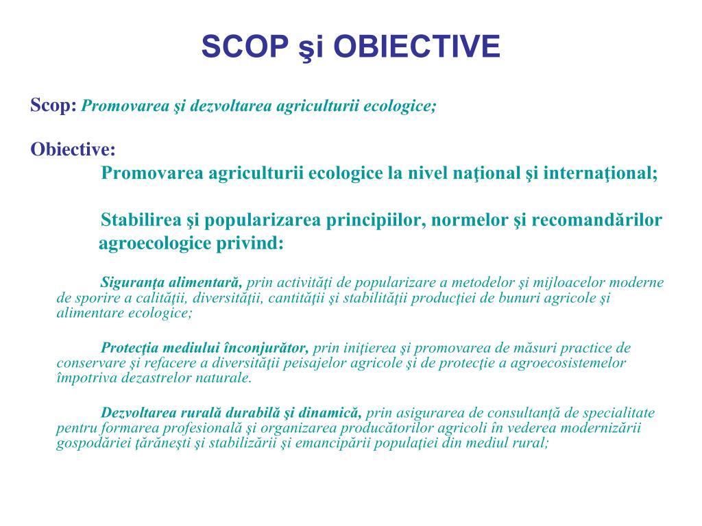 Obiective ecologice