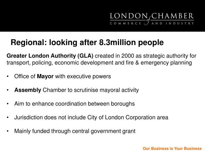 Regional: looking after 8.3million people