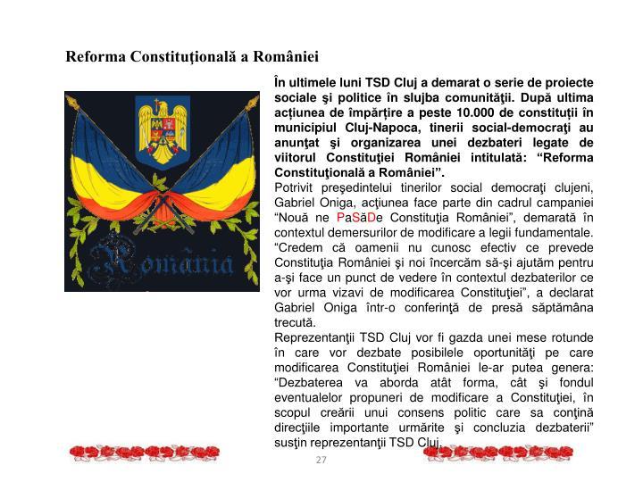 Reforma Constituţională a României