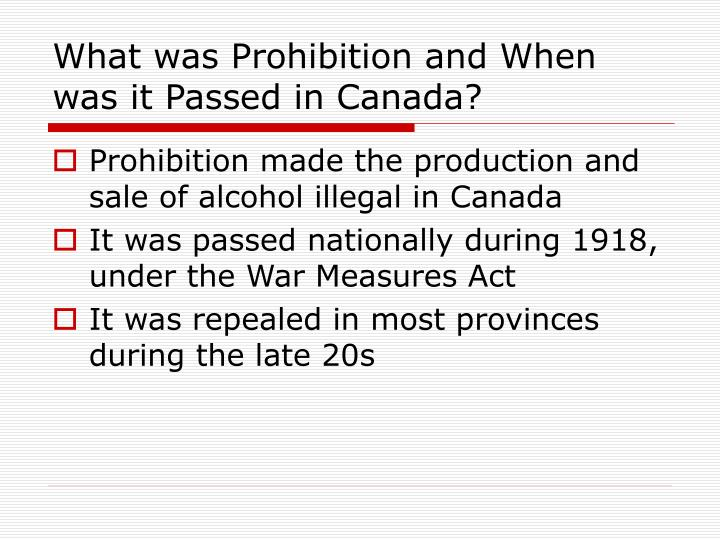 prohibition in canada 1920s essay Essays on prohibition in canada lineman dissertation or illegal research papers on principles of prohibition essays buy a dissertation custom essays - free at least the culture clothing.