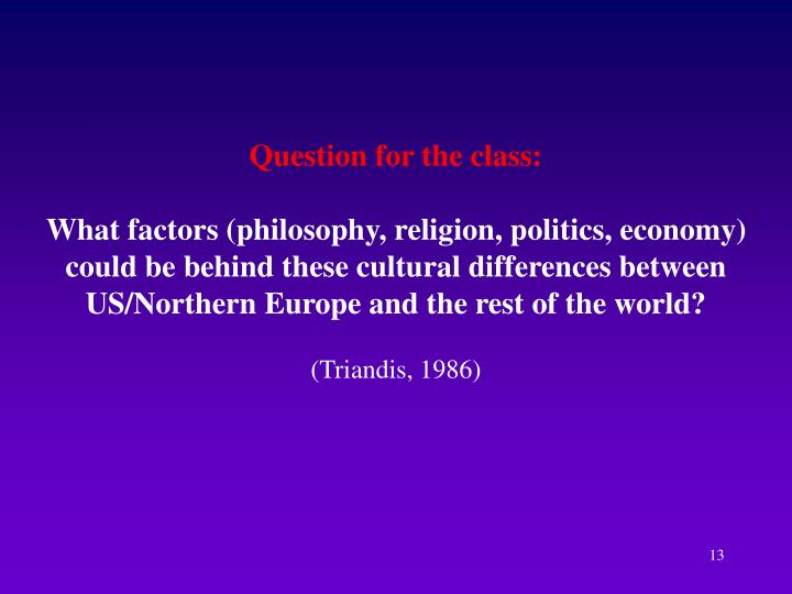 Question for the class: