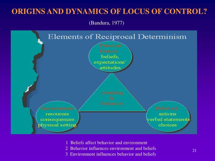ORIGINS AND DYNAMICS OF LOCUS OF CONTROL?