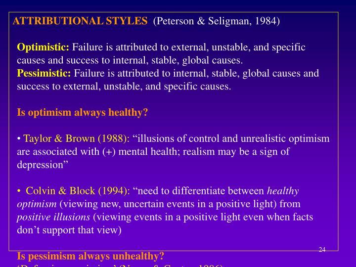 ATTRIBUTIONAL STYLES