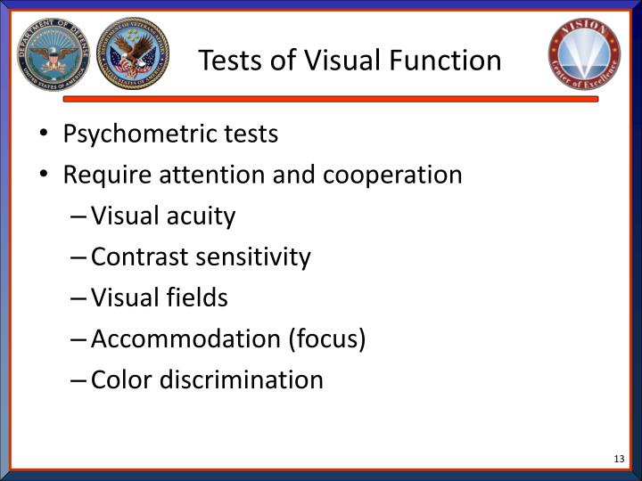 Tests of Visual Function