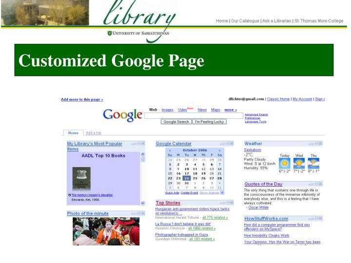 Customized Google Page