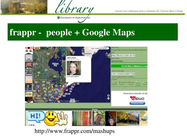 frappr -  people + Google Maps