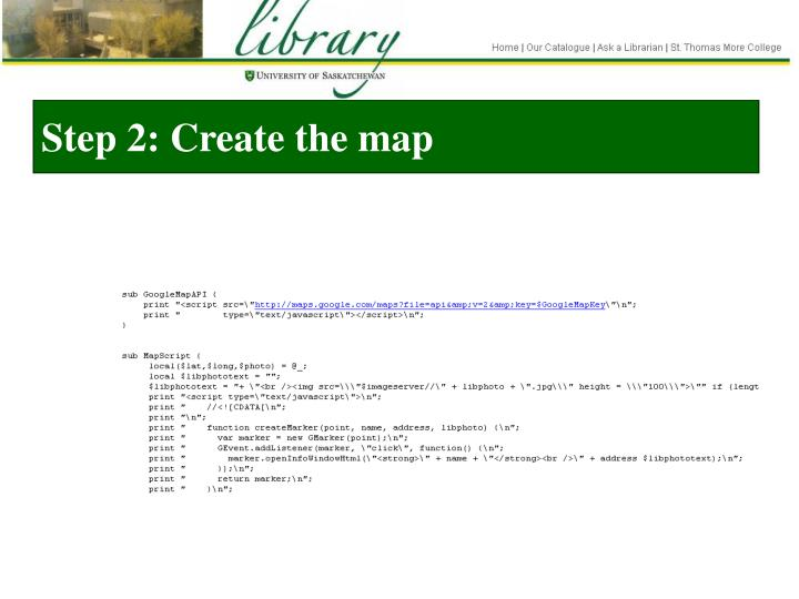Step 2: Create the map