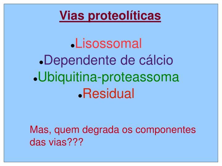 Lisossomal dependente de c lcio ubiquitina proteassoma residual