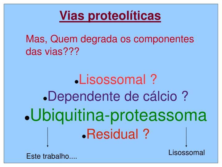 Lisossomal dependente de c lcio ubiquitina proteassoma residual1