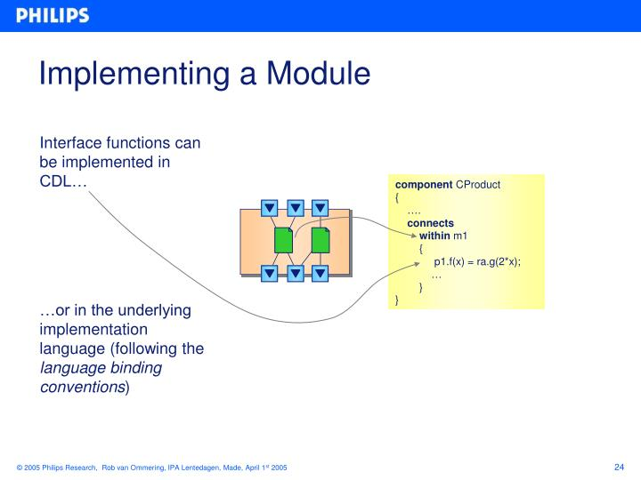 Implementing a Module