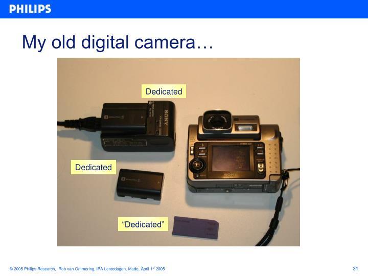 My old digital camera…