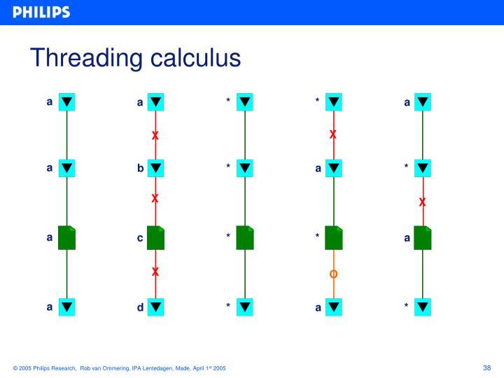 Threading calculus