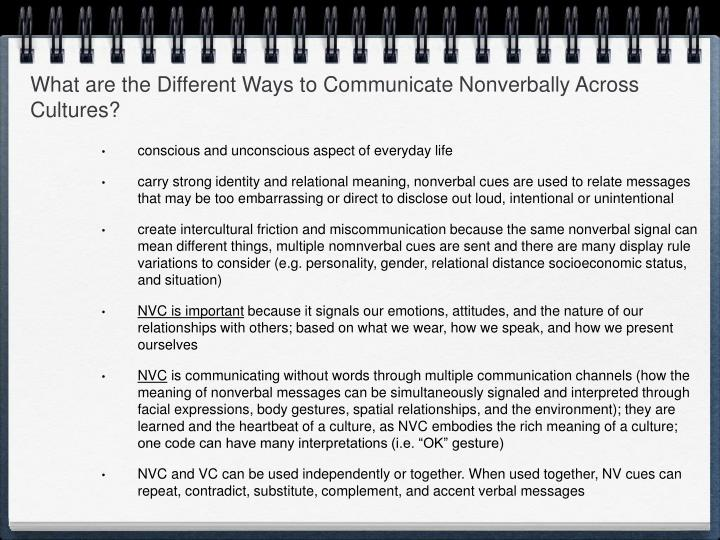 What are the Different Ways to Communicate Nonverbally Across Cultures?