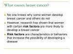 what causes breast cancer
