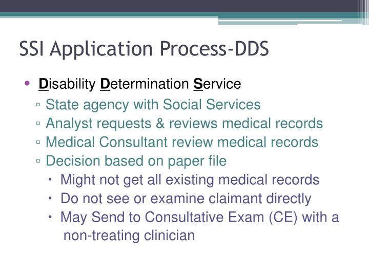SSI Application Process-DDS