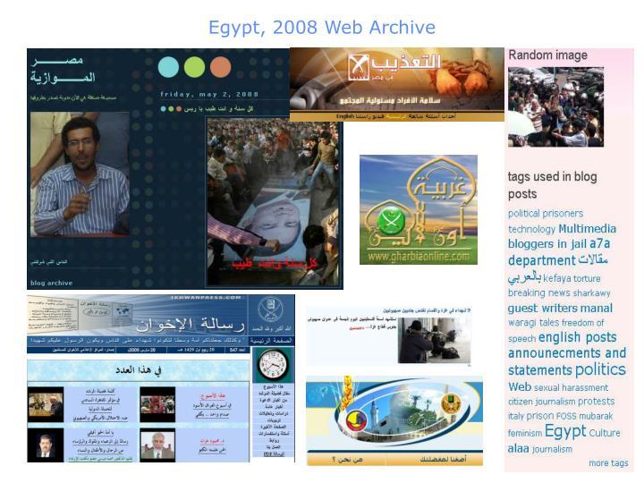 Egypt, 2008 Web Archive