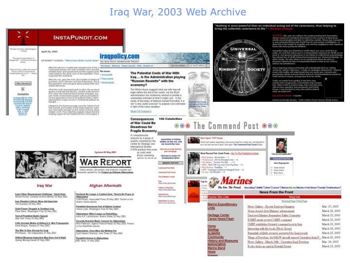 Iraq war 2003 web archive