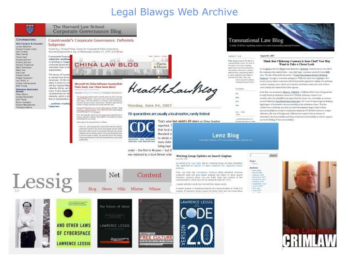 Legal Blawgs Web Archive