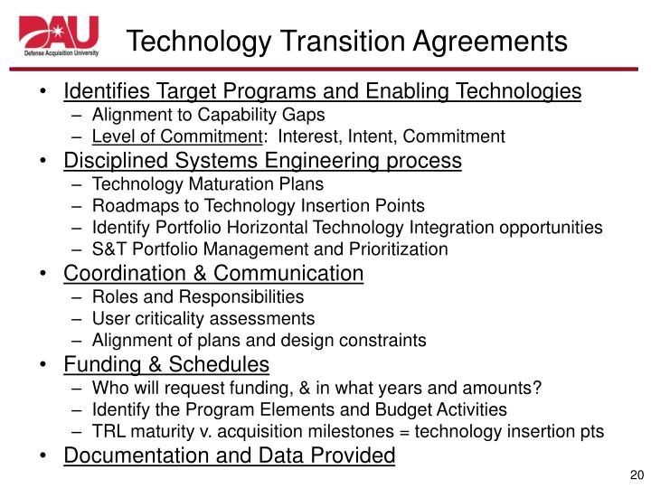 PPT - DOD AT&L Technology Transition Learning Center of
