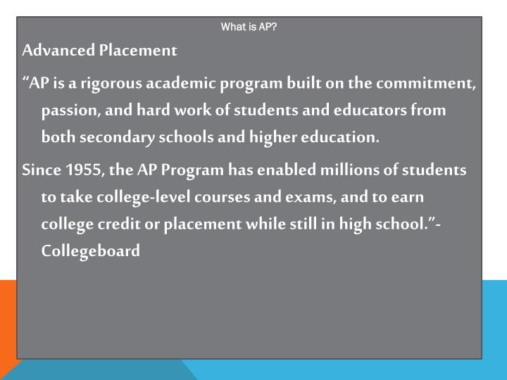 What is AP?