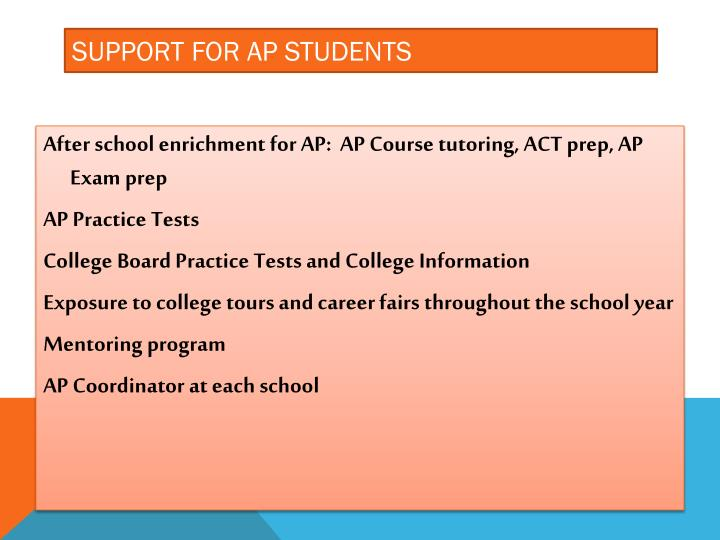 Support for AP Students