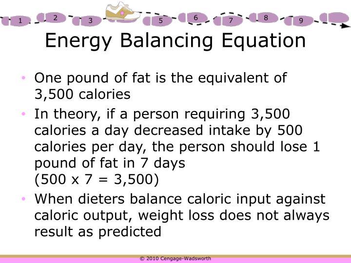 Energy Balancing Equation